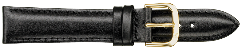 STRAPS, LEATHER #331 12mm BLK