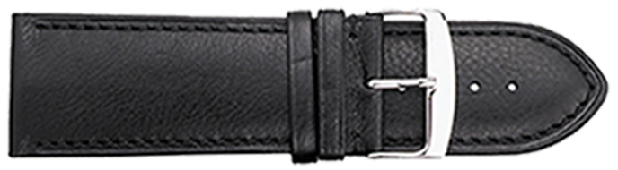 STRAPS, LEATHER #336 26mm BLK