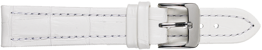 STRAPS, LEATHER #386 18mm WHT