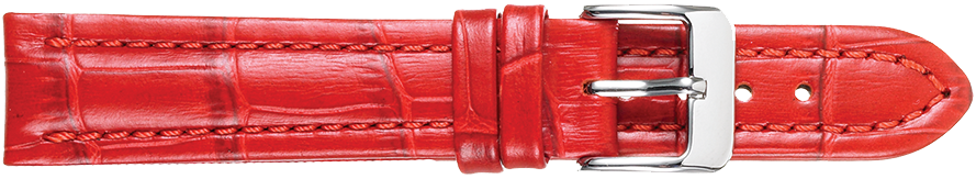 STRAPS, LEATHER #386 18mm RED