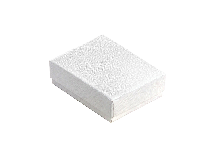 COTTON FILLED BOX        WHITE