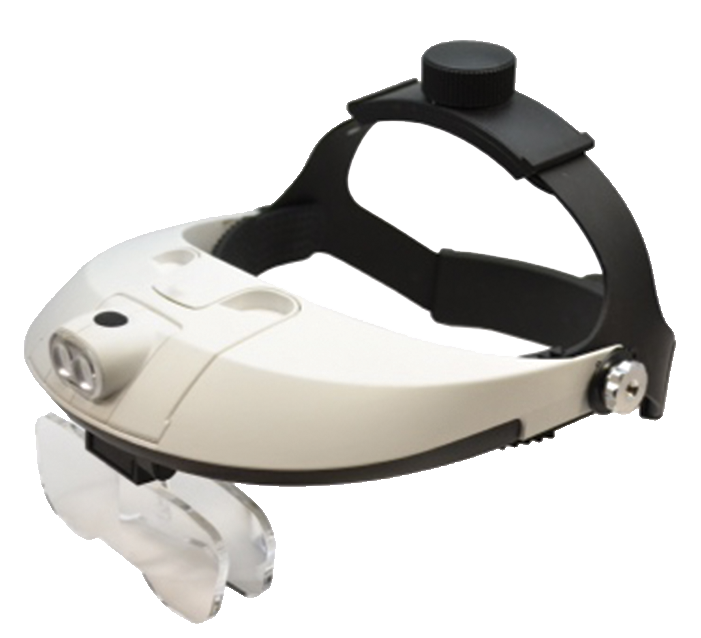 VISOR, LED HEADBAND  w/5 LENS