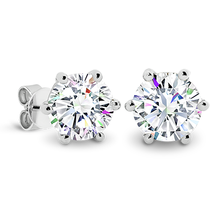 MOISSANITE, 14K EARRING 9.5mm