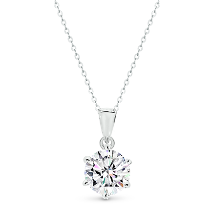 MOISSANITE, 14K PENDANT 7.5mm