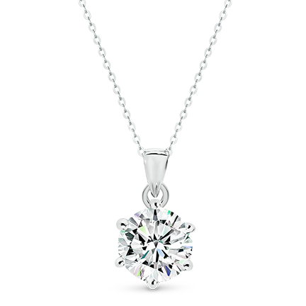 MOISSANITE, 14K PENDANT 8.0mm