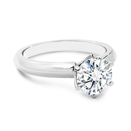 MOISSANITE, 14K RING    6.5mm