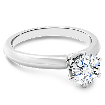 MOISSANITE, 14K RING    7.5mm