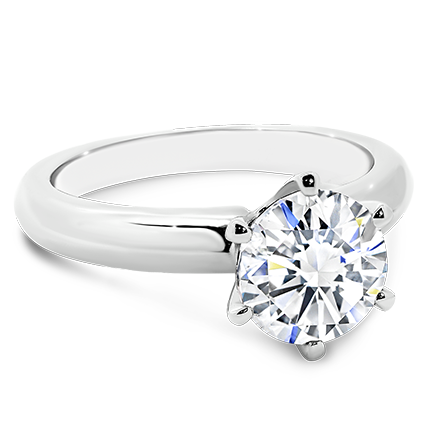MOISSANITE, 14K RING    8.0mm