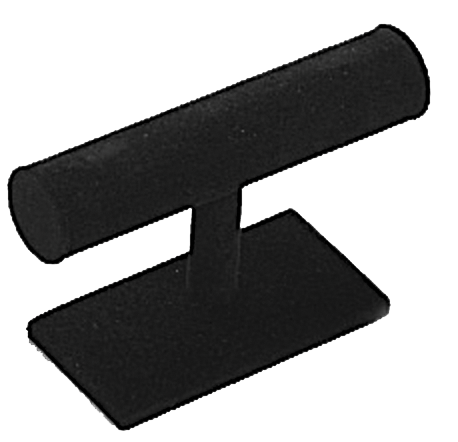 "STAND, ""T"" BAR SINGLE  VELVET P1 TNG 219 BLK"